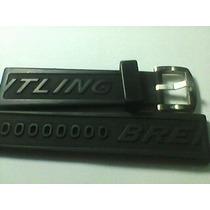 Pulseira Relógio Breitiling Borracha Siliconada 22/24mm Orig