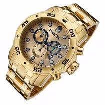 Relógio Invicta Scuba Diver 0074 Banhado Ouro 18k