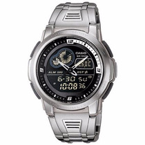 Relógio Casio Aqf 102 Pulseira De Aço Inox Instanlen