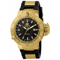Relógio Invicta Subaqua 3 1149 Reserve Banhado Ouro 18k