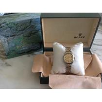 Rolex Oyster Perpetual Date Dama Ouro Aco Revisao Completa !