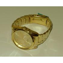 Relógio Masculino 612 Mapa Dourado - Frete Grátis