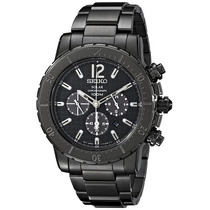Relógio Seiko Sport Solar Ssc225 Black Cronografo Masculino