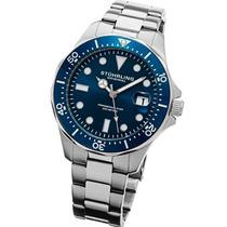 Relógio Stuhrling Original Aço Azul Quartzo Importado