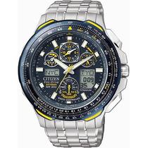 Relógio Citizen Blue Angels Jy0050-55l Skyhawk Titanium