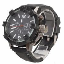 Relógio Analógico Masculino Robusto M/ Vogue V6 Kit C/ 2 Und