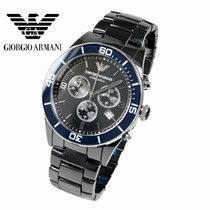 Relógio Emporio Armani Ar1429 Cerâmica Preta Completo