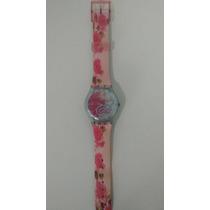 Relógio Swatch Pulseira De Plástico Com Flores