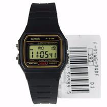 Relógio Casio Digital F91 Serie Ouro Original