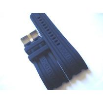 Pulseira Relógio Cronógrafo Náutica 24mm Preta Azul Nova