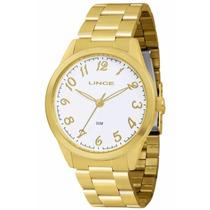 Relógio Lince Dourado Feminino (orient) Lrg4219l Prova Dágua