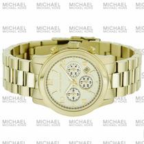 Michael Kors Mk5055 Midsized Gold Dourado Mk8077 Oversized !