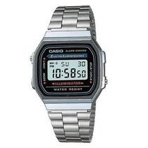 Relógio Casio A168wg-1wdf Prataunisex Retro Vintage Original
