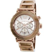 Relógio Luxo Michael Kors Mk5791 Orig Chron Anal Mdre Pérola