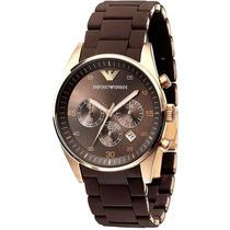 Relógio Emporio Armani Ar5890 Marrom Com Rose