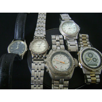 Lote De 05 Relógios De Pulso Marcas Variadas