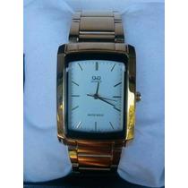 R$:150,00 Relógio Dourado Com Preto Original Q&q Excelente