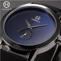 Relogio Masculino Importado Agx069 Azul Luxo Frete Gratis