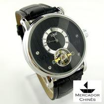 Relógio Importado Jaragar Preto Automático Turbilhão
