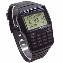Relógio Casio Data Bank Calculadora Dbc-32-1a Preto 5 Alarme