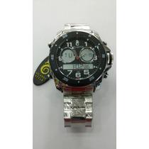 Relógio Original Atlantis Ana Digi G3216 Aço Prata