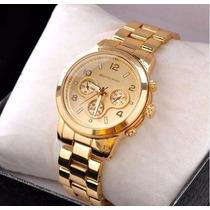 Relógio Feminino Dourado Estilo Michael Kors Lindo!!!