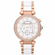 Relógio Michael Kors Mk5774 Rosê Branco Original Garantia