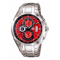 Relógio Casio Edifice Ef-555d Vermelho Cronógrafo Original