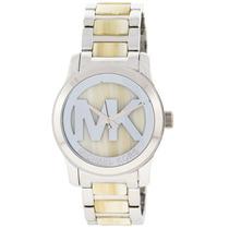 Relógio Luxo Michael Kors Mk5787 Orig Chron Anal Silver!!!