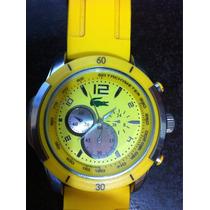 Relógio Lacoste Amarelo, Pulseira Silicone.