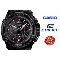Relogio Casio Edifice M710l Pretro Em Couro Frete Gratis