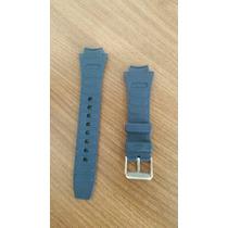 Pulseira Iwc 16mm Borracha Azul