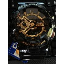 Relógio Casio G Shock Ga110 Black Gold Pronto Entrega