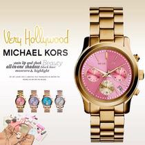 Relógio Michael Kors Mk6161 Dourado E Rosa Original Garantia