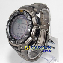 Prg-240t Relógio Casio Protrek Bussola Altimetro Barometr...