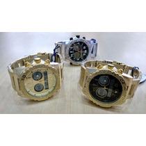 Relógio Original Atlantis Ana Digi 3228 Aço Dourado Ou Prata