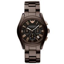 Relógio Emporio Armani Ar1446 Cerâmica Marrom Frete Grátis.