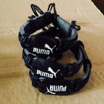 Pulseira Couro Legitimo Esportivo Logotipo Puma Adidas Nike