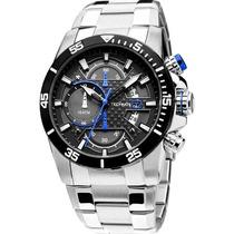 Relógio Maculino Technos Os10er/1a 45mm Sports Prata