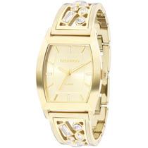 Relógio Feminino Technos Dourado 2035lzc/4x Crystal Swarovsk