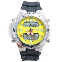 Relógio Masculino Citzem Aqualand Prata E Amarelo Jp1060
