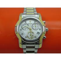 Relógio Bulova 98p120 Original Cronometro Dial Ouro E Prata