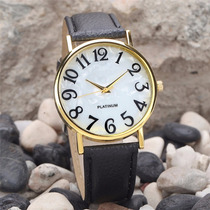 Relógio Feminino Preto E Branco Platinum Importado Barato