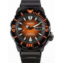 Seiko Black & Orange New Monster Srp311k1 200mts -frete Grat
