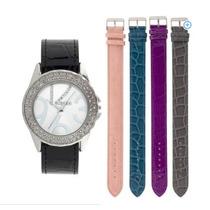 Relógio Feminino Troca Pulseiras 5 Cores