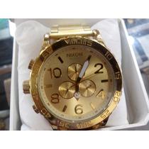Relógio Estilo Nixon Dourado