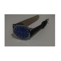 Relógio De Pulso Unissex Yazole Azul Em Couro Marron - Único