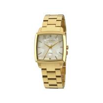 Relógio Technos Feminino Dourado Quadrado 2036lnp/4b