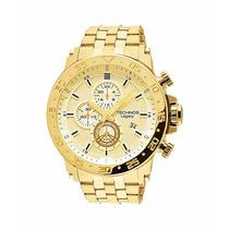 Relógio Technos Cronógrafo Dourado Js15ao/4x Original Novo