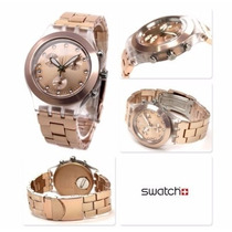 Relógio Swatch Chrono Full Blooded Caramel Svck4047ag